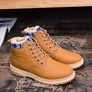 メンズ 靴 PUレザー 春 秋 コンフォートシューズ ローファー&スリップアドオン 用途 カジュアル ブラック オレンジ ブルー