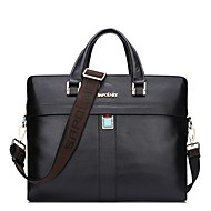 Men Bags Cowhide Briefcase Zipper for Casual Formal Office & Career All Season Black Brown