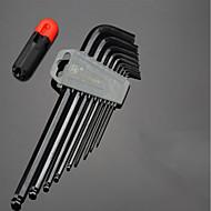 verlängerter Inbusschlüssel Satz runder Kopf T-Typ 5mm / 3mm6 Winkelkombination Schraubendreher neun Sätze von Werkzeugen Kugelkopf