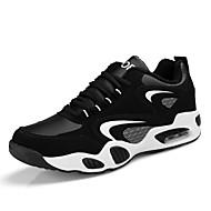 お買い得  ウォーキング-男性用 靴 春 コンフォートシューズ アスレチック・シューズ ウォーキング のために アウトドア ブラックとホワイト ブラック/レッド