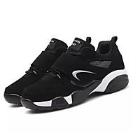 メンズ 靴 ラバー 秋 コンフォートシューズ アスレチック・シューズ バスケットボール 編み上げ 用途 ブラックとホワイト ブラック/レッド