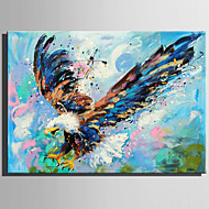 お買い得  -ハング塗装油絵 手描きの - 動物 田園風 近代の キャンバス