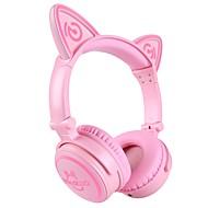 unicat mh-6 dětské sluchátka, kočka ušní bluetooth v4.2 skládací u ucha s mikrofonem