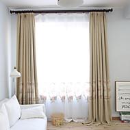 Propp Topp Dobbelt Plissert Blyant Plissert Window Treatment Land , Blomstret Stue Bomull Materiale Gardiner Skygge Hjem Dekor For Vindu