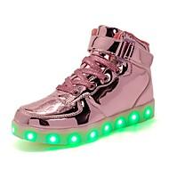 お買い得  女の子用靴-女の子 靴 PUレザー 秋 ライトアップシューズ スニーカー のために ゴールド / シルバー / ピンク / パーティー