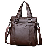Women Bags PU Briefcase Zipper for Wear to work All Seasons Black Brown Khaki
