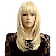 Sintetičke perike Wavy Prirodna linija za kosu Gustoća Capless Žene Plavuša Prirodna perika Kratko Sintentička kosa