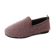 cheap Women's Slip-Ons & Loafers-Women's Shoes PU Summer Comfort Sandals Walking Shoes Wedge Heel Open Toe Hollow-out for Casual Black Brown