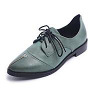 povoljno -Žene Cipele PU Proljeće Jesen Udobne cipele Oksfordice za Kauzalni Sive boje Braon Zelen