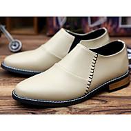 Erkek Ayakkabı PU Bahar Sonbahar Rahat Çizmeler Uyumluluk Günlük Siyah Bej Kırmzı
