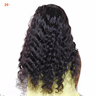 זול -שיער אנושי שיער ברזיאלי טווה שיער אדם תוספות שיער 1pc שחור