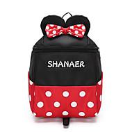 Χαμηλού Κόστους Preschool Backpacks-Τσάντες Oxford Πανί Τσάντες Kids ' Φερμουάρ για Causal Μαύρο / Ρουμπίνι