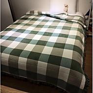 Superweich,Garngefärbt Natur Polyester / Baumwolle Decken