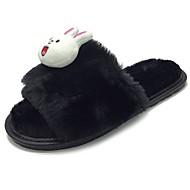 זול כפכפים ונעלי בית לנשים-נשים נעליים גומי חורף נוחות כפכפים & כפכפים בוהן עגולה עבור שחור אפור צהוב ורוד