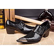 Недорогие -Для мужчин обувь Натуральная кожа Все сезоны Удобная обувь Оригинальная обувь Туфли на шнуровке Заклепки Пряжки Назначение Свадьба Для