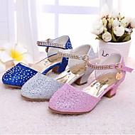 baratos Sapatos de Menina-Para Meninas Sapatos Courino / Microfibra Primavera Salto minúsculos para Adolescentes Saltos para Prata / Azul / Rosa claro