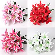 2 Gren Silke Andre Liljer Bordblomst Kunstige blomster