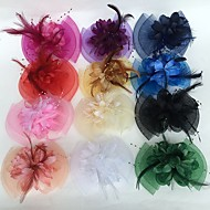 cheap -Feather / Net Fascinators / Flowers with 1 Wedding / Party / Evening Headpiece