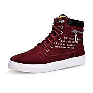 baratos Sapatos Masculinos-Homens Sapatas de novidade Flocagem Primavera / Outono Conforto Tênis Azul Escuro / Khaki / Vinho / Miçangas