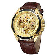 FORSINING Homens Relógio Casual Relógio de Moda Relógio de Pulso Automático - da corda automáticamente Couro Legitimo Banda Casual Legal