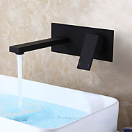 cheap Bathroom Sink Faucets-Bathroom Sink Faucet - Waterfall Black Wall Mounted Single Handle One Hole