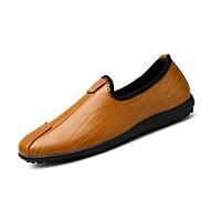 メンズ 靴 ラバー 春 秋 モカシン ローファー&スリップアドオン 用途 ブラック Brown