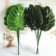 billige Kunstige blomster-45cm 5 stk 18cm bredde hjemme dekorasjon kunstige monsteras grønne planter