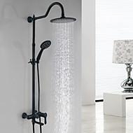abordables Robinets-Robinet de douche - Mat Noir Système de douche Soupape céramique