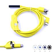 3 in 1 endoscop usb 7mm lentilă de inspecție 1.5m lungime camera de supraveghere borescope ip67 impermeabil pentru ferestre android șarpe