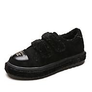 お買い得  レディーススニーカー-女性用 靴 カシミヤ 冬 コンフォートシューズ スニーカー ラウンドトウ のために カジュアル ブラック Brown