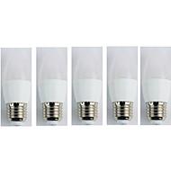 billige Stearinlyslamper med LED-5pcs 4W 320 lm E27 LED-lysestakepærer C35 5 leds SMD 3528 Kjølig hvit AC 110-240V