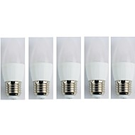 billige Stearinlyslamper med LED-5pcs 3W 225 lm E27 LED-lysestakepærer C35 5 leds SMD 3528 Varm hvit AC 110-240V