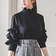 Høj krave Dame - Ensfarvet Aktiv Skjorte