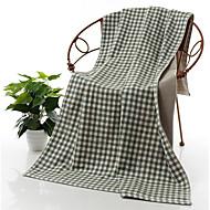 billige Hjemmetekstiler-Frisk stil Badehåndkle,Rutet Overlegen kvalitet Ren bomull Håndkle