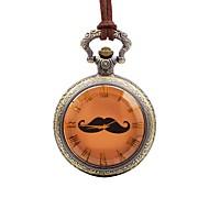 preiswerte Taschenuhr-Herrn Taschenuhr Armbanduhren für den Alltag Chinesisch Quartz Großes Ziffernblatt Leder Band Freizeit Braun