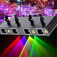 olcso Hangszerek-U'King Lézer színpadi világítás 7 DMX 512 Master-Slave Hangérzékelő Auto Távirányító 30 mert Klub Esküvő Színpad Buli Szabadtéri