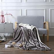 Superweich,Handgemacht Solide Polyester / Baumwolle Decken