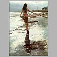 ontspannen strand 100% handgeschilderde hedendaagse olieverfschilderijen moderne kunst aan de muur van de muur voor kamerinrichting