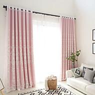 Propp Topp Dobbelt Plissert Blyant Plissert Window Treatment Moderne , Blomstret Geometrisk Hul Stue Lin Materiale gardiner gardiner Hjem