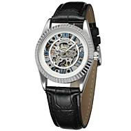 WINNER Dámské Hodinky k šatům Náramkové hodinky mechanické hodinky Automatické natahování S dutým gravírováním Kůže Kapela Luxus Vintage