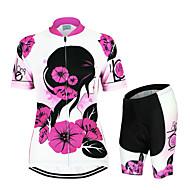 Arsuxeo Camisa com Shorts para Ciclismo Mulheres Manga Curta Moto Conjuntos de Roupas Secagem Rápida Design Anatômico Respirável Fecho