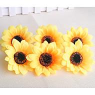 billige Kunstige blomster-10 gren plast solsikke bordplaten blomst kunstige blomster