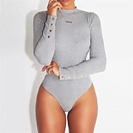 Žene bodysuit Jednobojni Visoki struk