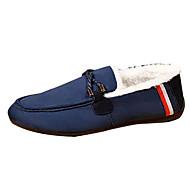 メンズ 靴 ラバー 秋 冬 モカシン ローファー&スリップアドオン 用途 ブラック レッド ブルー