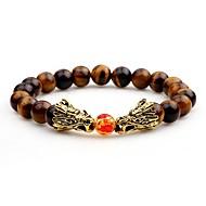 Muškarci Strand Narukvice Onyx Azijski Cool Ahat Circle Shape Jewelry Večer stranka Ulica Nakit odjeće