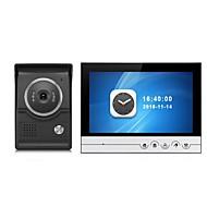 billige Dørtelefonssystem med video-storskjerm 9 tommers fargegjengivelse monitor video dør telefon intercom system med cmos utendørs kamera