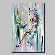 זול ציורי שמן-מצויר ביד בעלי חיים אנכי,מודרני פנל אחד בד ציור שמן צבוע-Hang For קישוט הבית