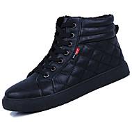 お買い得  メンズブーツ-男性用 靴 PUレザー 春 秋 コンフォートシューズ ブーツ のために アウトドア ホワイト ブラック レッド