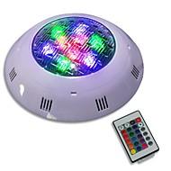 baratos Focos-JIAWEN 1pç 9W Lâmpada Subaquática Controlado remotamente Iluminação Externa RGB 12-24V