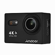 billige Overvåkningskameraer-andoer an9000 4k 16mp wifi action sportskamera 1080p fhd 2 berøringsskjerm 170 vidvinkelobjektiv med hardt tilføyd støtte 4x zoom vanntett